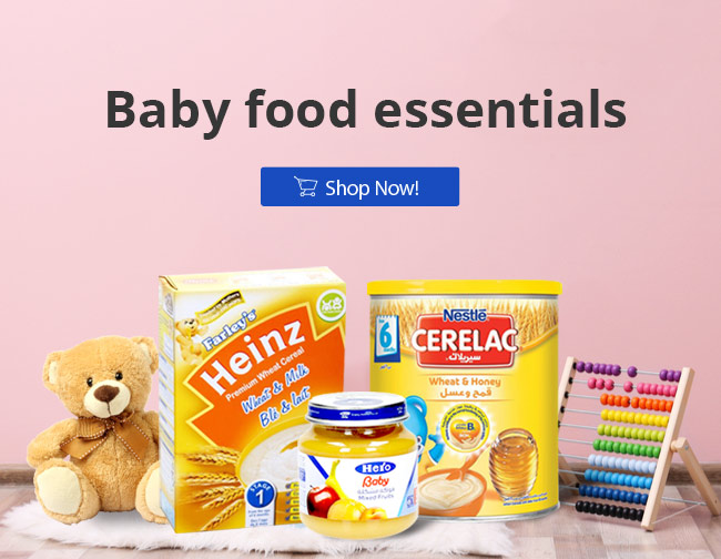 Baby Food | Best Online Grocery Shopping Store & home delivery in Kuwait just one click away. Place your order Now from the comfort of your home