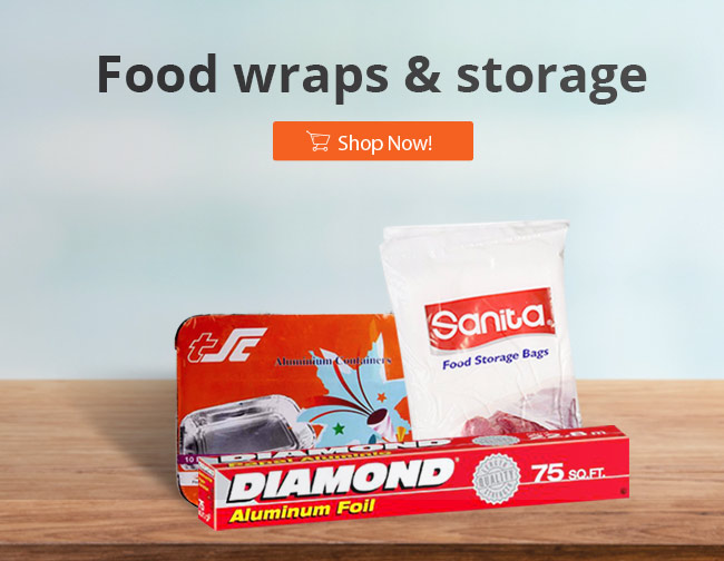 Food wraps and storage| Best Online Grocery Shopping Store & home delivery in Kuwait just one click away. Place your order Now from the comfort of your home